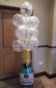 champagne bottle with bubbles