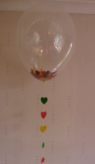 conffeti table  balloon