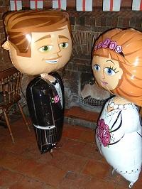 bride & groom air walker
