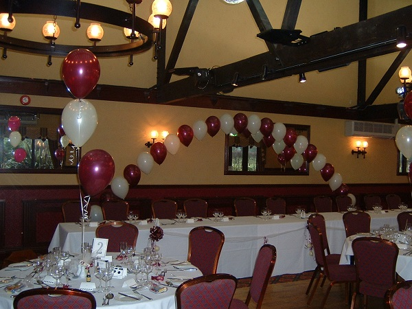 buffet table arch as part of wedding balloon packages
