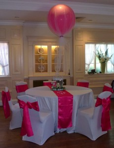 wedding balloon packages giant tulle covered balloon