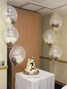 diamond clear balloons with baby hearts