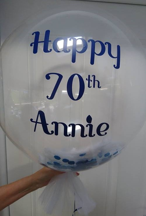 personalised deco bubble