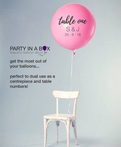 giant table number balloon
