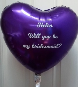bridesmaid foil balloon